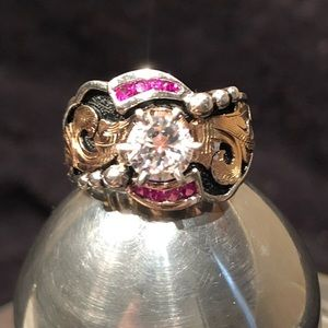 KWK by Bob Berg Jewelry - ♥️ New KWK by Bob Berg Round CZ and Rubies Ring
